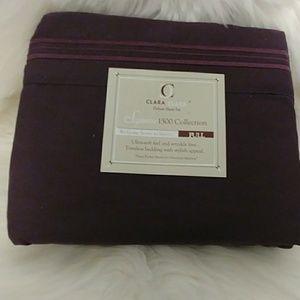 Clara Clark 1500 Plum Full Size Sheet Set